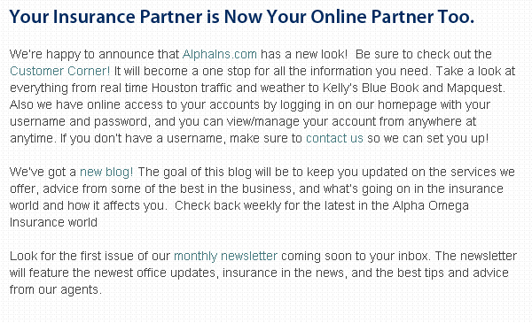 Alpha Omega Insurance Group announces new website